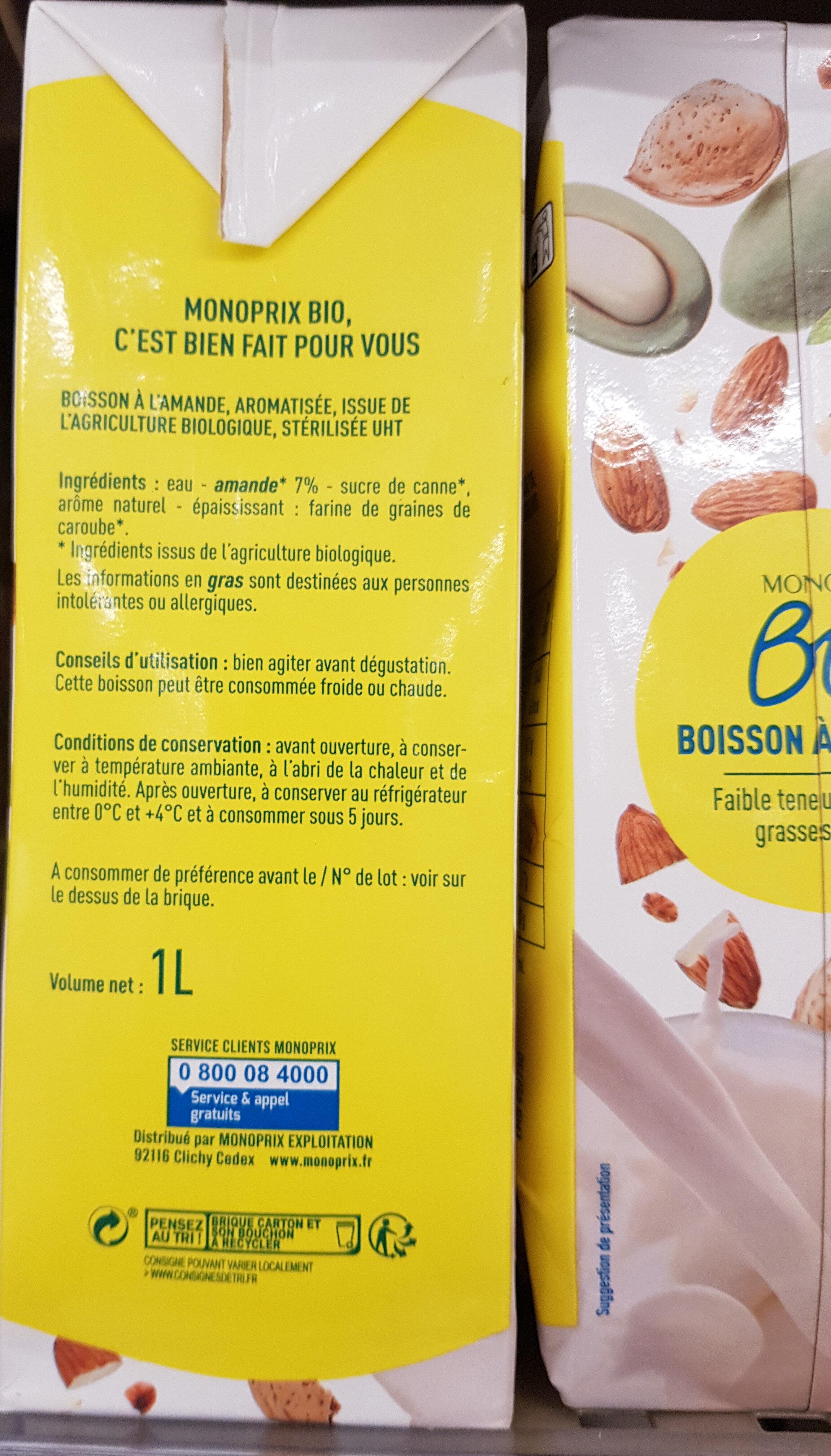 Lait d'amande - Ingredienti - fr