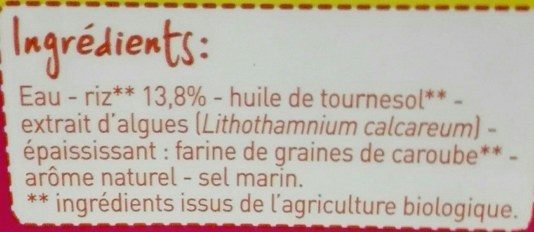 Boisson au riz Calcium - Ingrédients