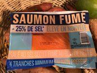 Saumon fumé -25% de Sel - Product