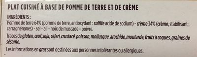 Gratin Dauphinois Gourmet - Ingrédients