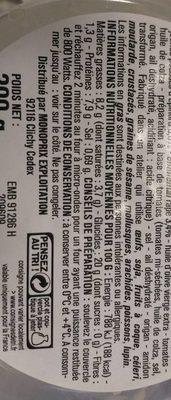 Gnocchetti 3 Fromages, pousses d'épinards - Nutrition facts