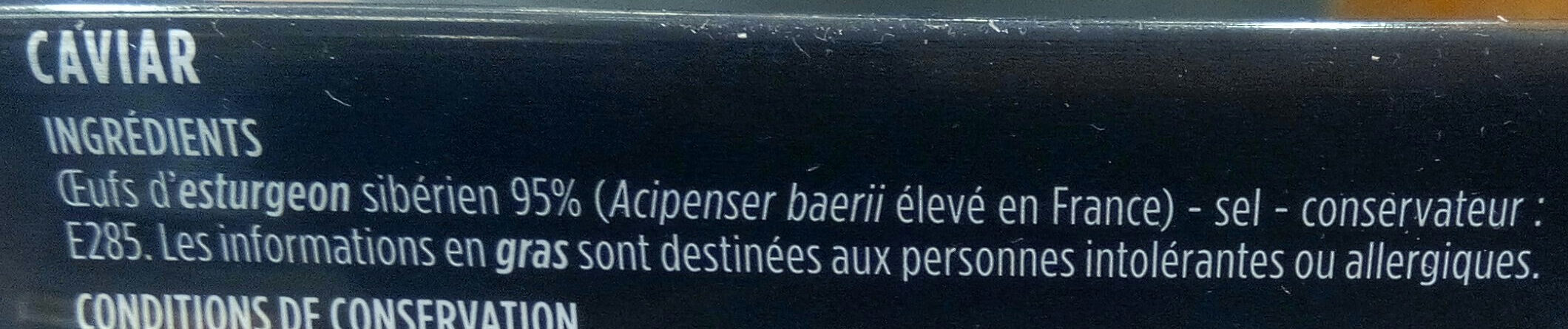 Caviar français - Ingrédients - fr