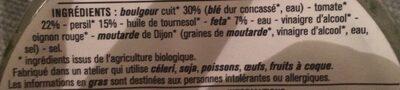 Taboulé boulgour - Ingrediënten - fr