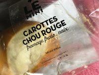 Le mini carottes chou rouge fromage frais noix - Product