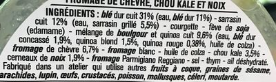 Blé sarrasin chèvre kale - Ingrédients