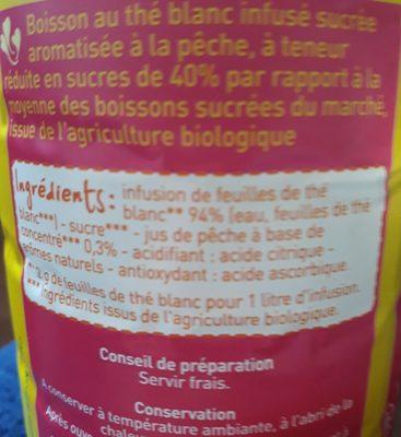 Thé Blanc infuse saveur pêche - Ingrediënten