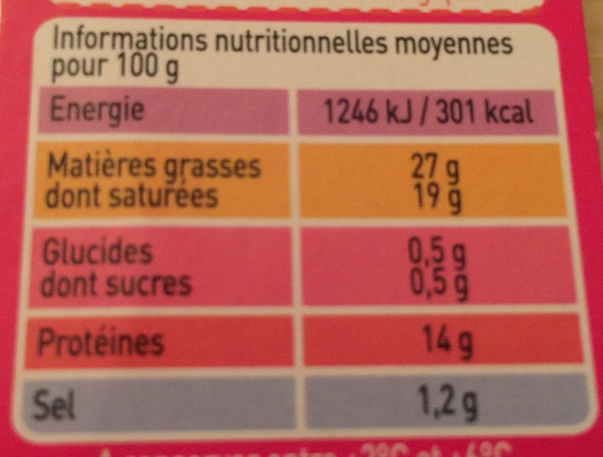 Saint Félicien Bio - Nutrition facts
