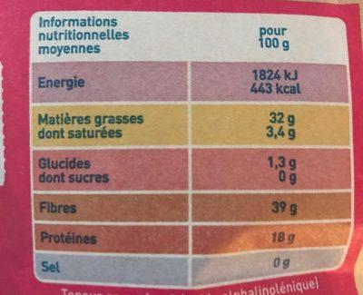 Graines de Chia - Voedingswaarden - fr