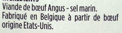 Black Angus - Viande de bœuf séchée - Ingrediënten - fr