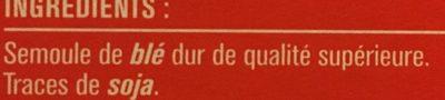 Couscous Grain Moyen - Ingredients