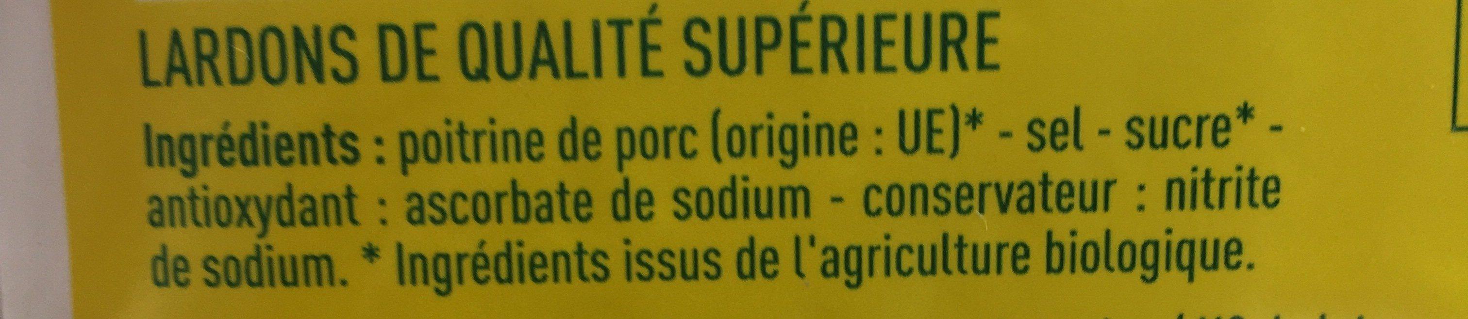 Lardons nature - Ingrediënten - fr