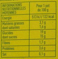 Specialite au soja chocolat - Voedingswaarden - fr