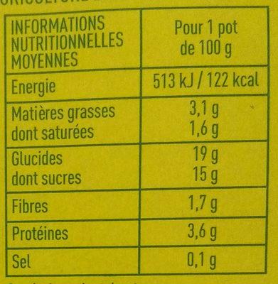Specialite au soja chocolat - Informations nutritionnelles