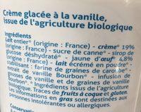 Glace vanille bourbon - Ingrédients