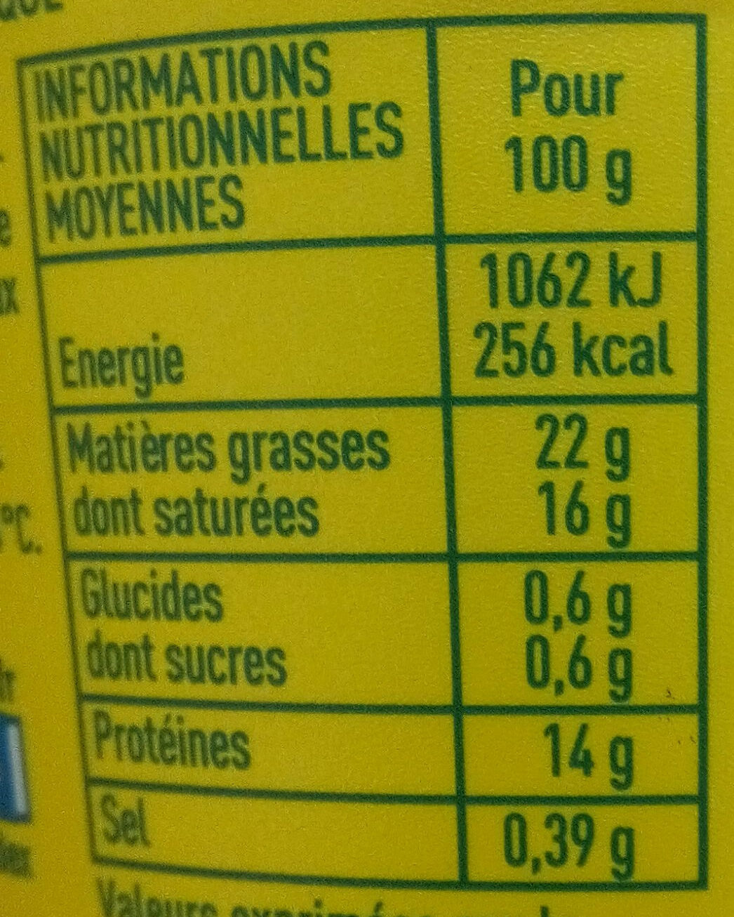 Monoprix bio billes - Nutrition facts