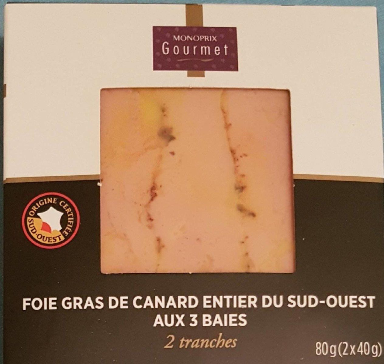 Foie gras de canard entier aux 3 baies - Product - fr