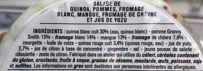 Salade Quinoa Chèvre - Ingrediënten - fr