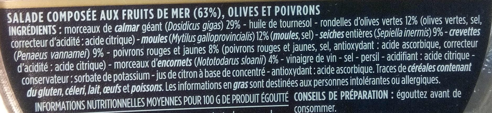 Salade de la mer aux olives vertes - Ingredients