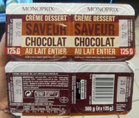 Crème dessert Saveur Chocolat - 产品 - fr
