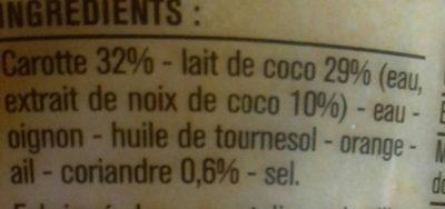 Soupe - Ingrediënten