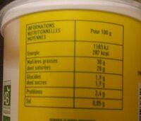 Creme Fraiche Bio - Nutrition facts - fr