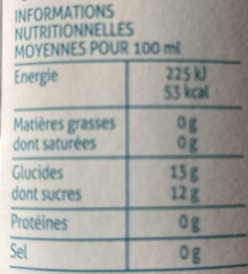 Pomme du Sud-ouest - Nutrition facts - fr