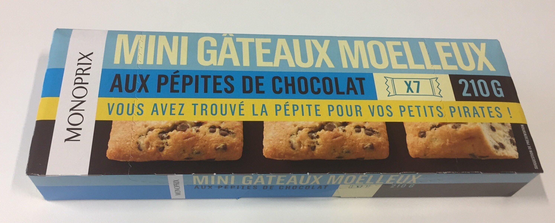 Mini gateaux moelleux aux pépites de chocolat - Produit - fr