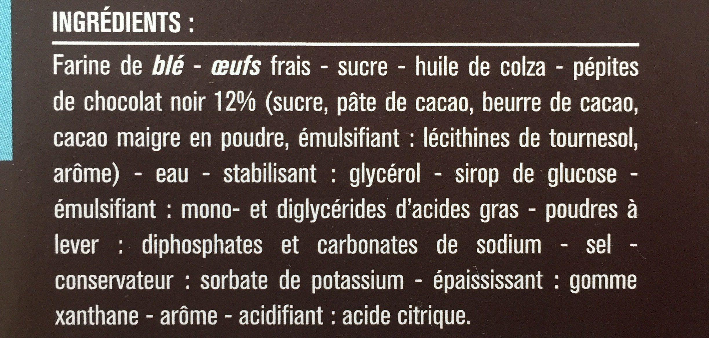 Mini gateaux moelleux aux pépites de chocolat - Ingrédients - fr