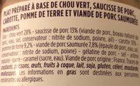 Potée Auvergnate - Ingrédients - fr