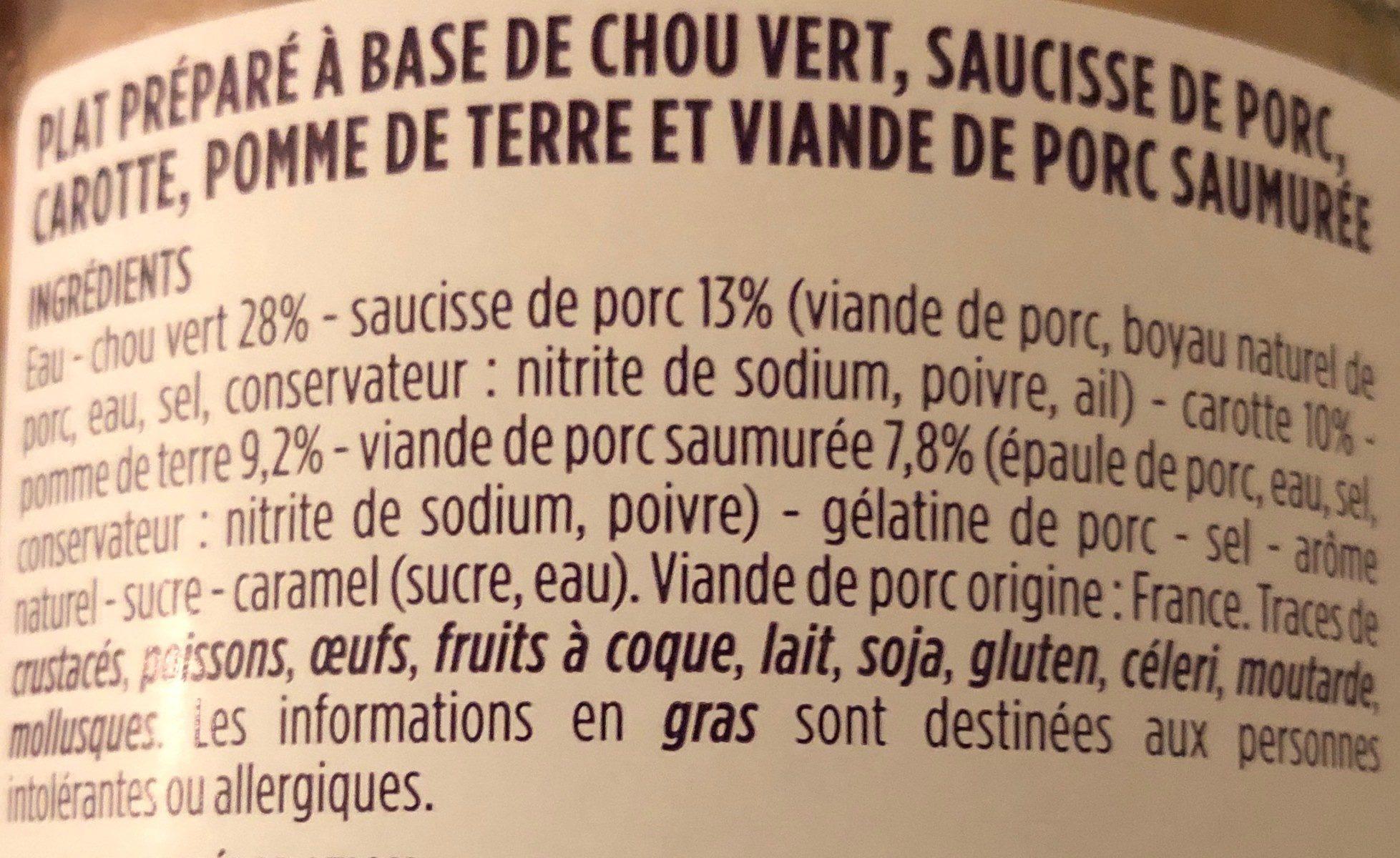 Potée Auvergnate - Ingrediënten - fr