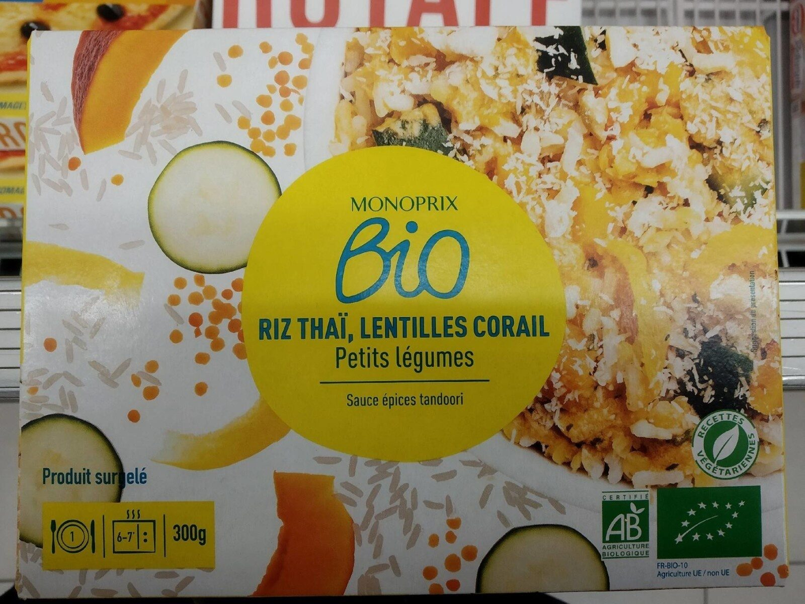 Riz Thaï, lentilles corail, petits légumes et sauces tandoori - Produkt