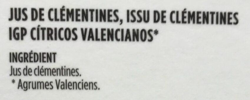 Clementine de valencia - Ingredienti - fr