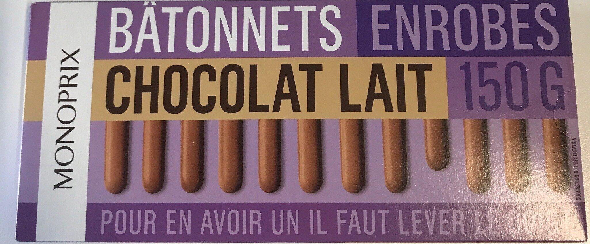 Batonnets enrobés Chocolat Lait - Produit - fr