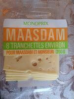 Maasdam 8 tranchettes - Product - fr