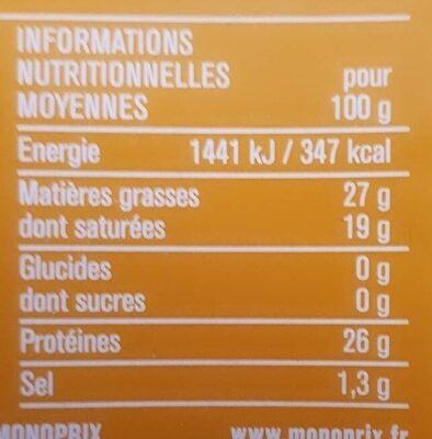 Maasdam 8 tranchettes - Voedingswaarden - fr