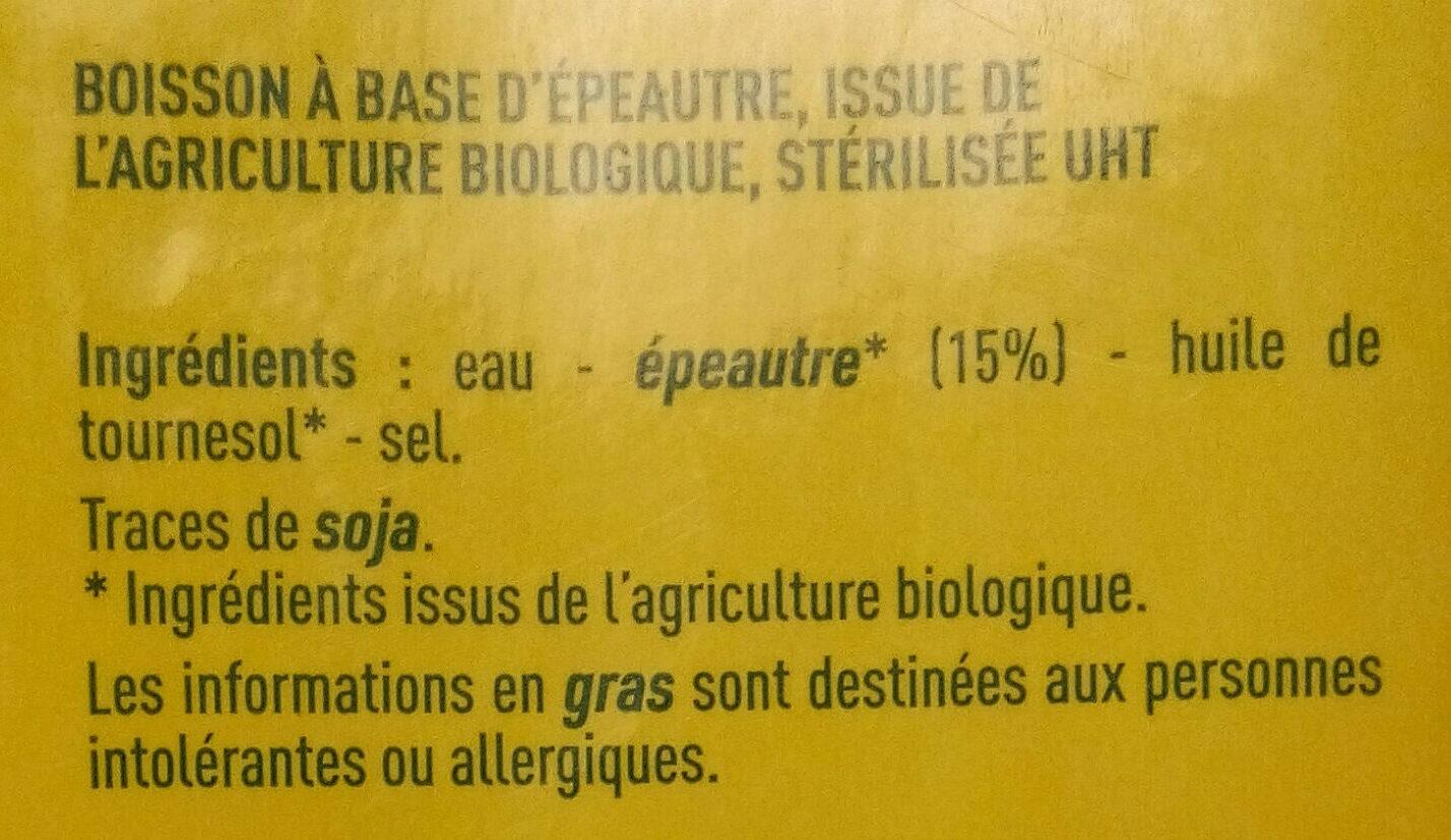 Boisson épeautre - Ingrédients - fr