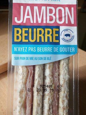 Sandwich pain de mie jambon beurre - Produit