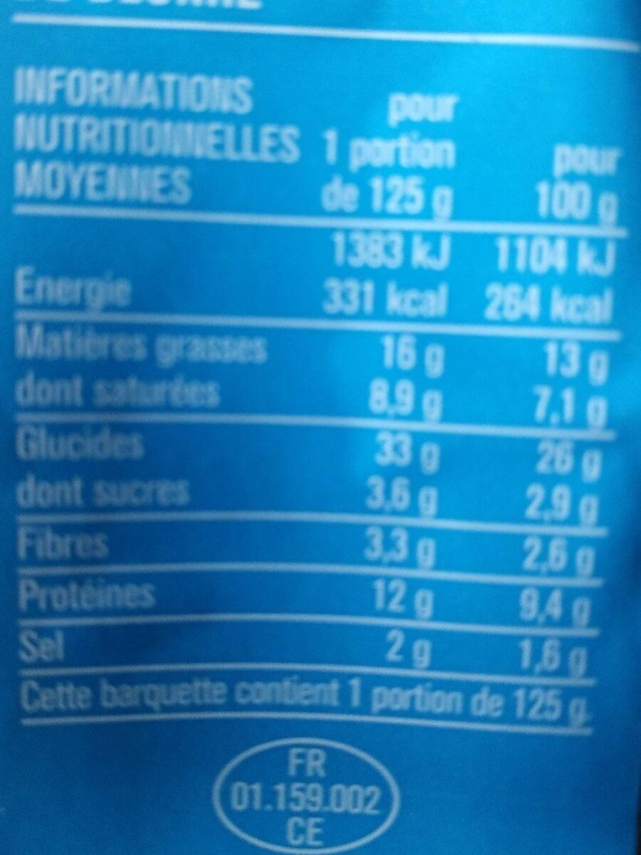 Sandwich pain de mie jambon beurre - Nutrition facts