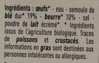 Quenelles - Ingrédients - fr