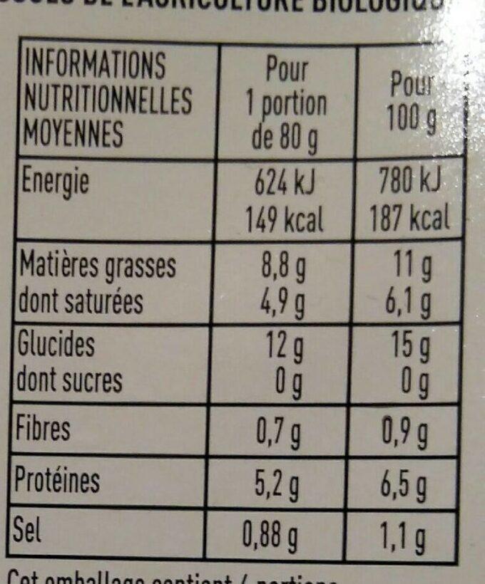 Quenelles - Informations nutritionnelles - fr