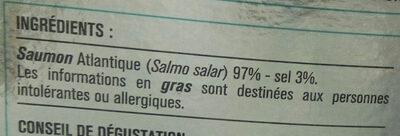 Saumon fumé - Ingredients - fr