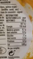 Salade potimarron lentilles corail quinoa - Nutrition facts