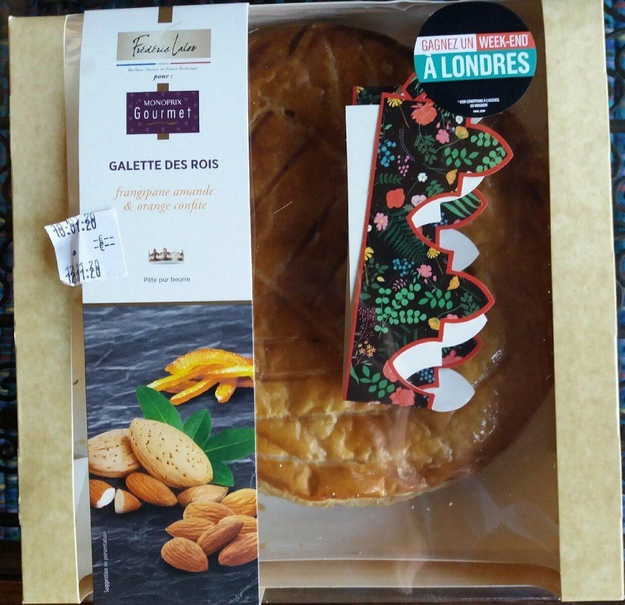 Galette des rois frangipane amande et orange confite - Product