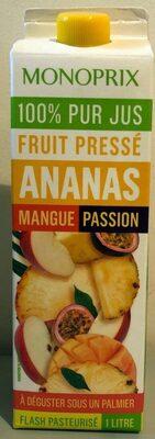 100% pur jus Ananas Mangue Passion - Produit - fr
