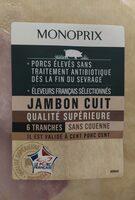 Jambon cuit sup PSA VPF - Product