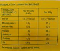 Blanc de poulet Qualité supérieure - Informations nutritionnelles - fr