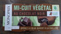 Mi-cuit végétal au chocolat noir - 产品 - fr