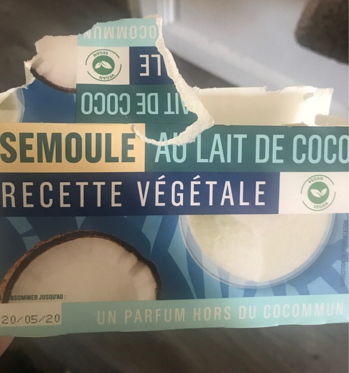 semoule au lait de coco vegan - 产品 - en