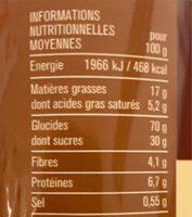 Gouters fourres - Informations nutritionnelles - fr