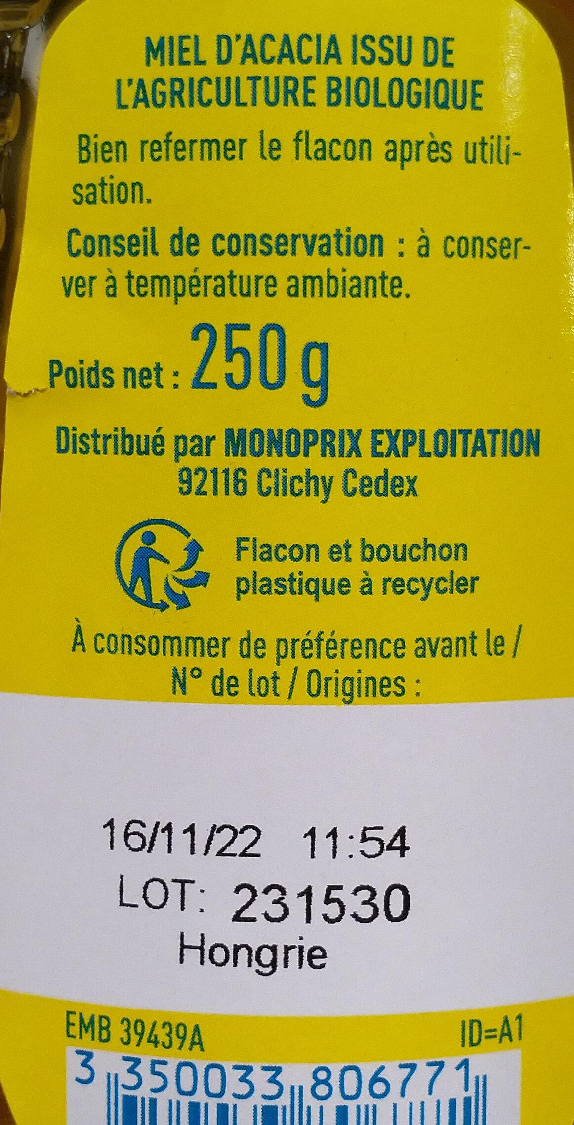 Miel d'acacia - Ingrédients - fr